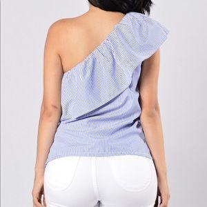 Blue By My side Fashion Nova Top